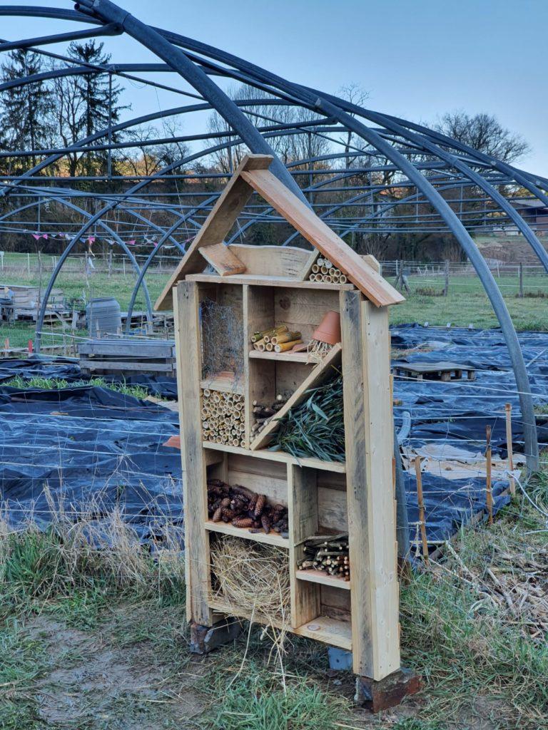 Fermaculture, nichoir à insectes